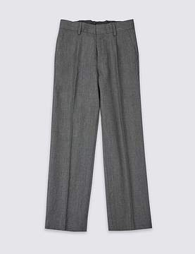 Marks and Spencer Boys' Wool Blend Pleat Front Trousers