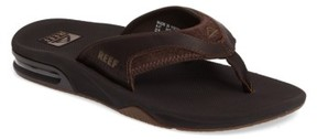 Reef Men's 'Fanning Leather' Flip Flop