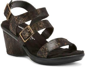 Walking Cradles Women's Lean Metallic Wedge Sandal