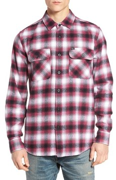 Obey Men's Mission Plaid Flannel Sport Shirt