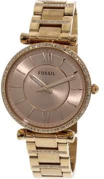 Fossil Women's Carlie ES4301 Gold Stainless-Steel Japanese Quartz Fashion Watch