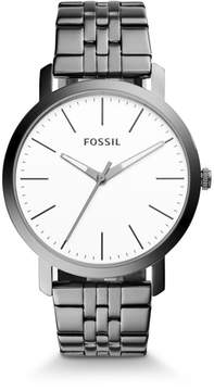 Fossil Luther Three-Hand Smoke Stainless Steel Watch