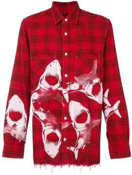 Amiri checked abstract patterned shirt