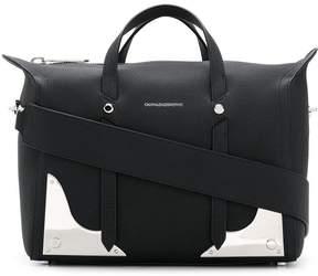 Calvin Klein silver plaque shoulder bag