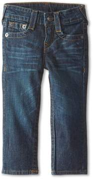 True Religion Geno Relaxed Slim Fossil Silk Single End Classic Stretch in Dark Indigo Boy's Jeans