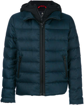 Fay long sleeved fitted down jacket