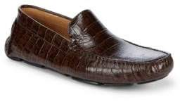 Saks Fifth Avenue Exotic Embossed Leather Driver Shoes