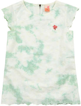 Scotch & Soda Ivory and pastel green top with embroideries