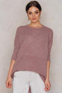 NA-KD Na Kd Wide Knitted Melange Long Sweater