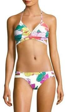 6 Shore Road by Pooja La Playa Floral Wrap Bikini Top