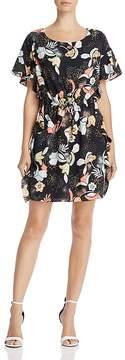 Cooper & Ella Raquel Ruffled Floral-Print Shift Dress