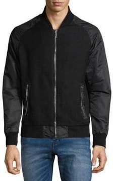 Karl Lagerfeld Full-Zip Textured Jacket