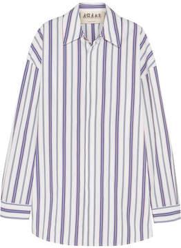 Awake Oversized Striped Cotton-poplin Shirt - Blue