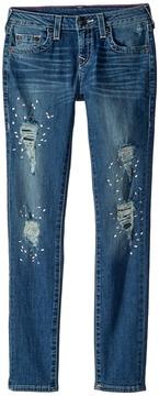 True Religion Casey Skinny Jeans in Diamond Blue Girl's Jeans
