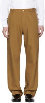 Junya Watanabe Brown Carhartt Edition Canvas Duck Trousers
