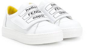 Fendi Kids branded strap sneakers
