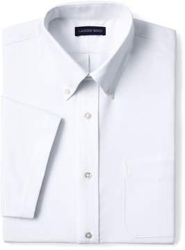 Lands' End Lands'end School Uniform Men's Big Short Sleeve Buttondown Stain Release Oxford Sport Shirt