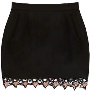 Fleur Du Mal Galaxy Lace Mini Skirt