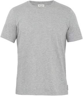 Saint Laurent Embroidered-crest crew-neck T-shirt