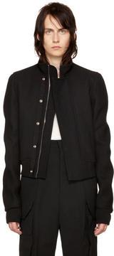 Rick Owens Black Glitter Egon Jacket