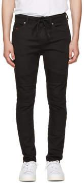Diesel Black Bakari-Ne Biker Jogg Jeans