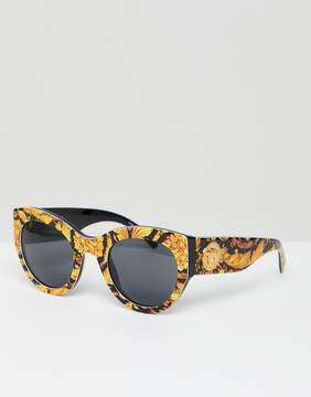 Versace Cat Eye Sunglasses with Scarf Print
