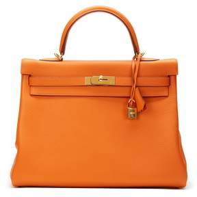 Hermes Kelly leather tote - ORANGE - STYLE