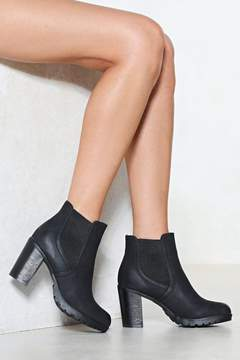 Nasty Gal Got Yourself a Heel Vegan Leather Boot