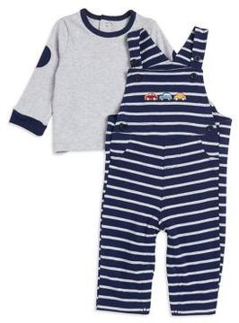 Little Me Baby Boy's Knit Top and Overalls Set