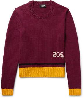 Calvin Klein Contrast-Trimmed Wool-Blend Sweater