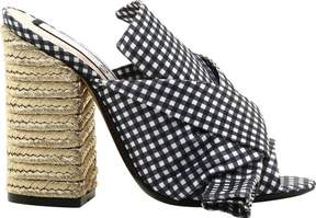 No.21 No. 21 NO. 21 Vichy Bow Espadrille Heeled Sandal (Women's)