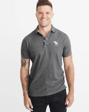 Abercrombie & Fitch Big Icon Stretch Polo