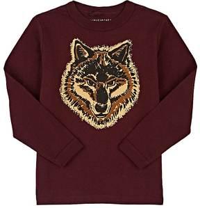 Stella McCartney Wolf-Print Cotton Long-Sleeve T-Shirt