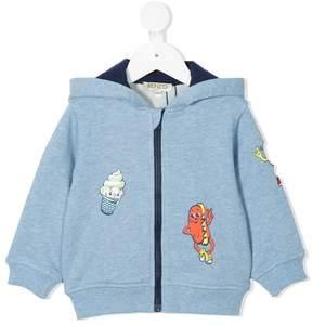 Kenzo food fiesta print zip up sweatshirt