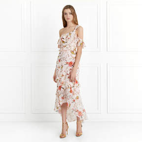 Rachel Zoe Jillian Cactus Flower Printed Midi Dress