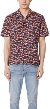 Gitman Brothers Short Sleeve Pink Flamaingo Shirt