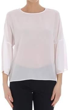 Seventy Women's White Linen T-shirt.