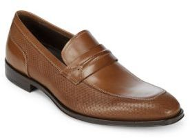 Canali Almond-Toe Leather Penny Loafers
