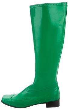 Sigerson Morrison Square-Toe Knee-High Rain Boots