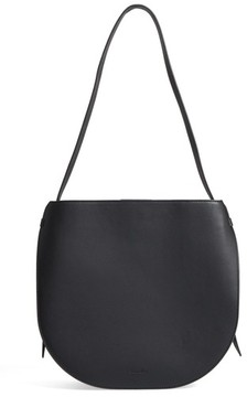 Steven Alan Helena Half Moon Leather Shoulder Bag - Black