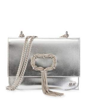 Roger Vivier Club Chain Metallic Leather Evening Clutch Bag