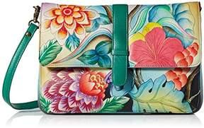 Anuschka Anna by Hand Painted Leather Women's Medium Flap Messenger