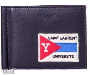 Saint Laurent Université Patch Wallet - BLACK - STYLE