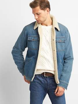 Gap Icon sherpa-lined denim jacket