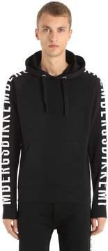 Bikkembergs Logo Print Hooded Cotton Sweatshirt