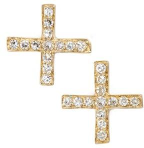 Ef Collection Women's Diamond X Stud Earrings