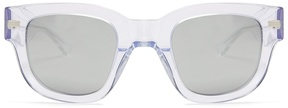 Acne Studios Square-frame mirrored acetate sunglasses