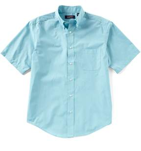 Roundtree & Yorke TravelSmart Big and Tall Short-Sleeve End on End Solid Sportshirt