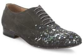 Maison Margiela Paint Splattered Calf Leather Oxfords