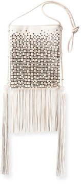 Saint Laurent Tanger Medium Flat Studded Fringe Crossbody Bag